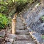 Steps going up Bukit Cenderawasih | limestone hill lookout | Perlis | Malaysia