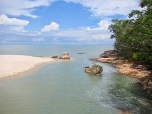 Sea channel to Pantai Kerachut meromictic lake | Penang State Park | Tasik meromiktik | Taman Negara Pulau Pinang | Malaysia hiking