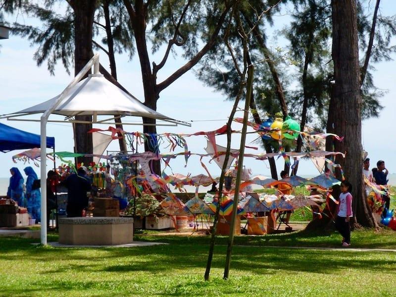 Kites on sale at Morib beach | Selangor, Malaysia | KL day trip