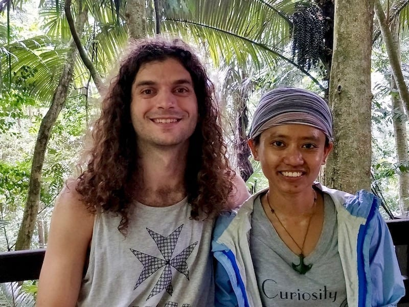 Teja and Jason on our first hike | Waiting our turn for the FRIM canopy walkway
