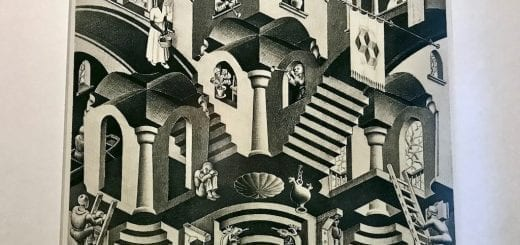 "Travel article ""M.C. Escher: The Artist Who Likes Math"" on the blog Teja on the Horizon 
